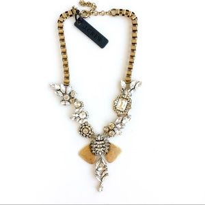 Jcrew unsymmetrical crystal statement necklace